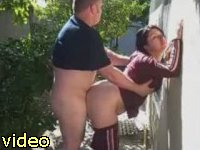 wife and hubby outdoor sex